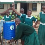 The Water Project: Essaba Primary School -  Hand Washing Station