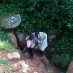 The Water Project: Gidagadi Community -  Fetching Water