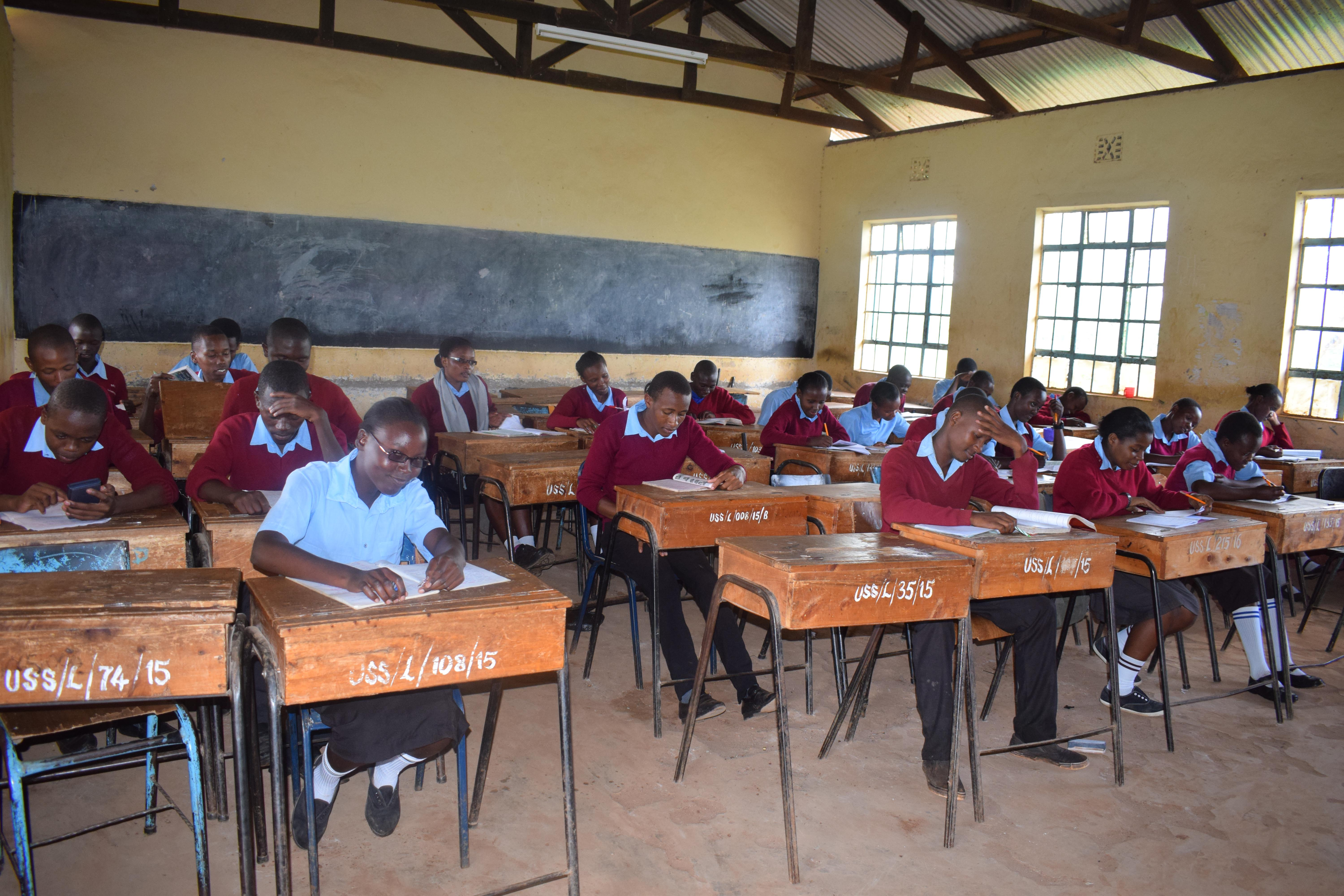 The Water Project : 3-kenya4801-students-in-class