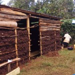 The Water Project: Matsakha A Community -  Mud House Under Construction