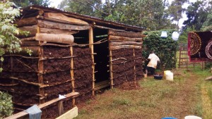 The Water Project : 4-kenya4856-mud-house-under-construction