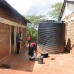 The Water Project: Uvaani Secondary School -  Plastic And Broken Tanks