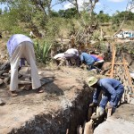 The Water Project: Ilinge Community -  Sand Dam Construction
