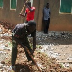 The Water Project : 8-kenya4658-clearing-and-leveling-the-ground