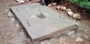 The Water Project:  A Drying Latrine Floor