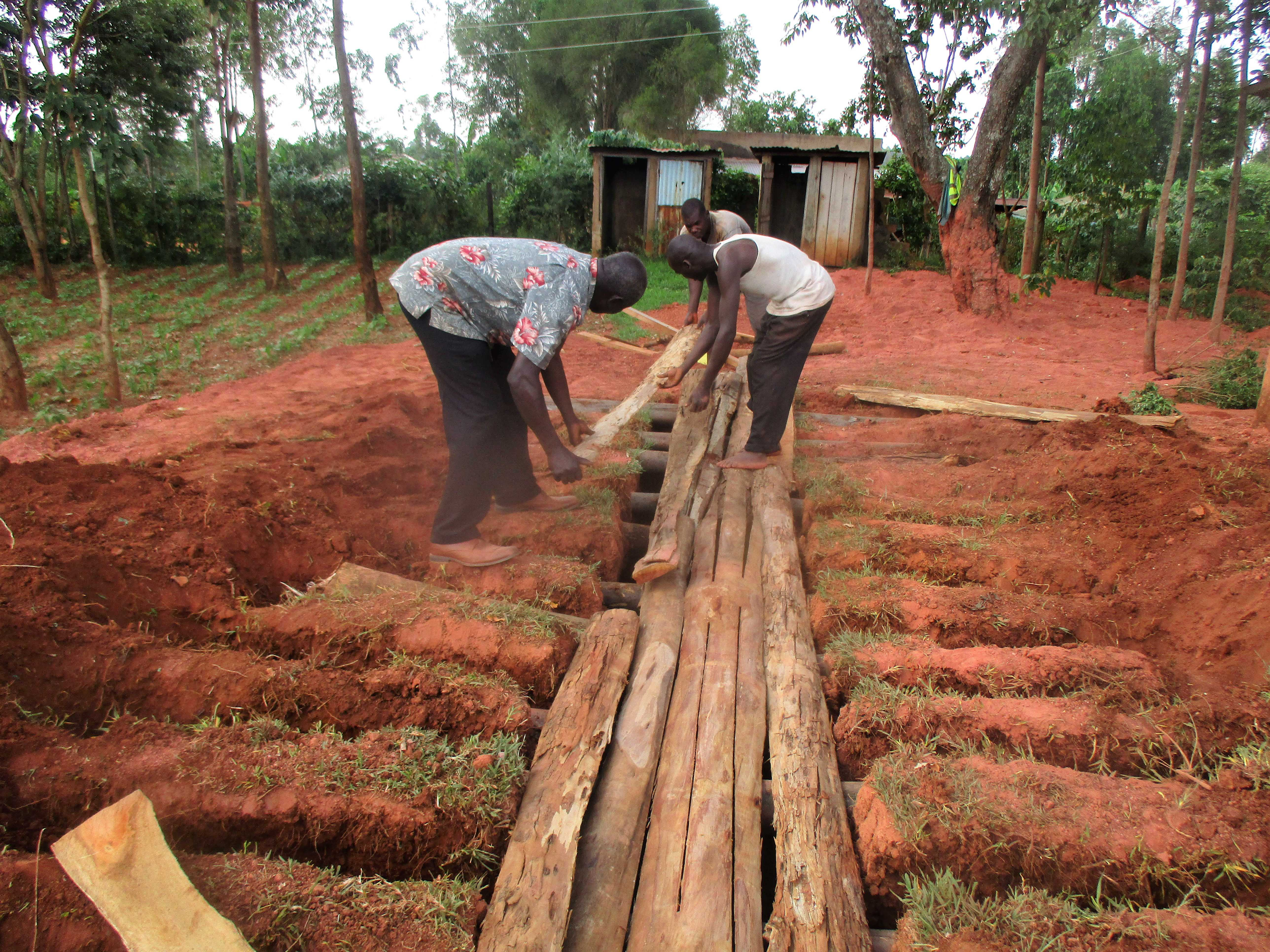 9 kenya4651 laying the latrine foundation