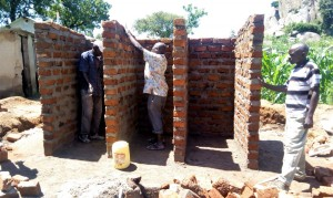 The Water Project : 9-kenya4657-latrine-construction
