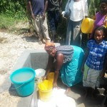 The Water Project: Chegulo Community, Shakava Spring -  Clean Water