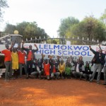The Water Project: Lelmokwo Boys' Secondary School -  Students At Gate