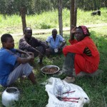 The Water Project: Ibinzo Girls Secondary School -  Artisans Eating Lunch Provided By The School