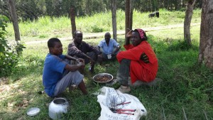 The Water Project:  Artisans Eating Lunch Provided By The School
