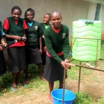 The Water Project: St. Kizito Lusumu Secondary School -  Hand Washing