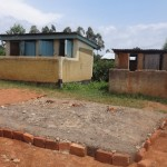 The Water Project: Emukangu Primary School -  Latrine Foundation