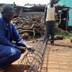 The Water Project : 11-kenya4667-wire-for-wall-support