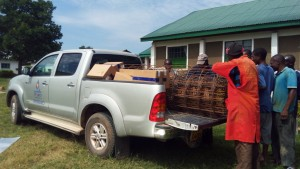 The Water Project:  Community Members Helping Unload A Truck