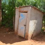 The Water Project: Kathama Community A -  Mwikali Latrine
