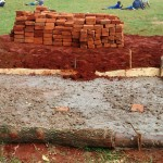 The Water Project: Essunza Primary School -  Latrine Foundation