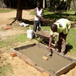 The Water Project: Bukhakunga Community -  Sanitation Platform Construction