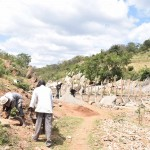 The Water Project: Kaani Community B -  Construction
