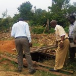 The Water Project: Eshilakwe Primary School -  Inspecting The Latrine Pit