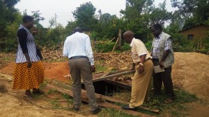 The Water Project:  Inspecting The Latrine Pit