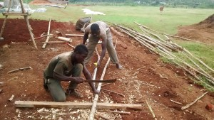 The Water Project : 13-kenya4667-men-make-poles-to-support-dome-construction
