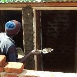 The Water Project: Essunza Primary School -  Latrine Construction