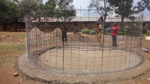 The Water Project:  Wire Structure For Wall
