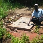 The Water Project: Mumuli Community A -  Sanitation Platform