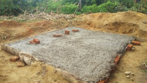The Water Project:  Latrine Foundation Drying