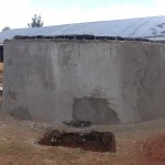 The Water Project: Emukangu Primary School, Butere -  Tank Construction