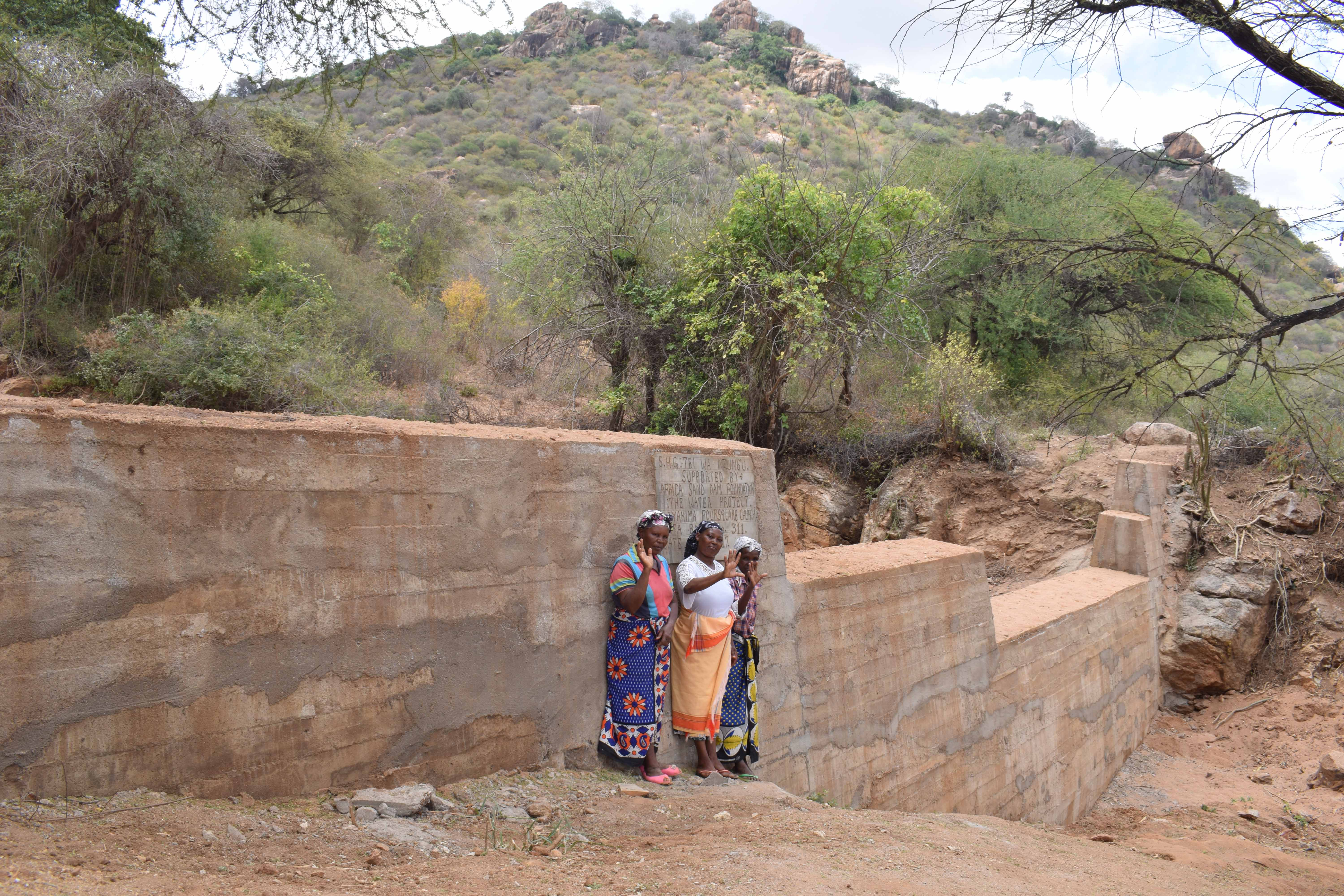 The Water Project : 14-kenya4772-finished-sand-dam