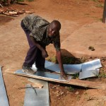 The Water Project: Ebukanga Secondary School -  Making Gutters