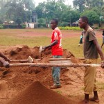 The Water Project: Essunza Primary School -  Preparing Dirt