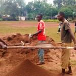 The Water Project: Essunza Primary School -  Preparing Dirt
