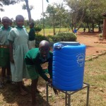 The Water Project: Emukangu Primary School -  Hand Washing Station