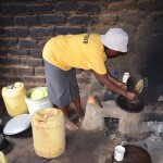 The Water Project: Ilinge Community C -  Janet Mbatha Kitchen