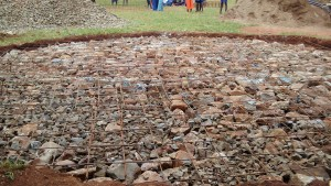 The Water Project : 16-kenya4674-tank-foundation