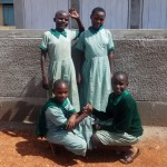 The Water Project: Emukangu Primary School -  Finished Latrine
