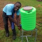 The Water Project: Ebukanga Secondary School -  Hand Washing Station