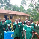 The Water Project: Emurembe Primary School -  Hand Washing Station