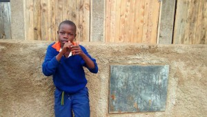 The Water Project:  Student Posing At Latrines