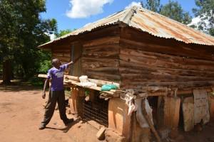 The Water Project:  Antony Mwaluko Chicken Coop