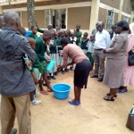 The Water Project: Eshilakwe Primary School -  Hand Washing