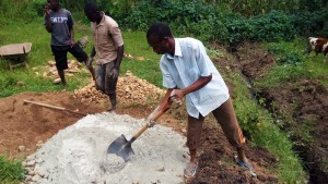 The Water Project:  Mixing Cement