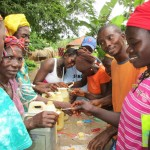 The Water Project: Kafunka Community -  Building Hand Washing Stations