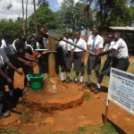 The Water Project : 5-kenya4683-seasonal-hand-dug-well-near-latrines