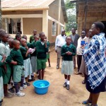 The Water Project: Eshilakwe Primary School -  Brushing Teeth