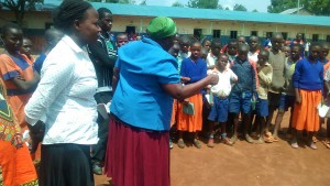 The Water Project:  Sanitation Teacher Talking To Students