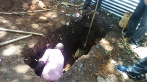 The Water Project:  Sinking A Latrine Pit